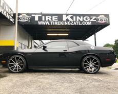 "Dodge Challenger on 22"" Gima wheels"