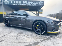 """Dodge Charger on 22"""" Replica wheels"""