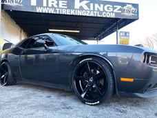"""Dodge Challenger on 22"""" STR Racing wheel"""