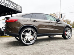 "Mercedes-Benz on 28"" Rucci wheels"