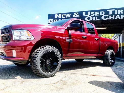 "Dodge Ram on 20"" XF Off-Road wheels"