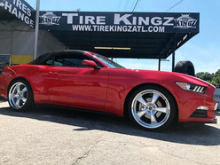 """Ford Mustang on 20"""" Mickey Thompson wheels"""