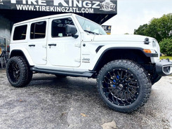 "Jeep Wrangler on 22"" XF Off-Road wheels"