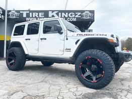 "Jeep Wrangler on 20"" tuff wheels"