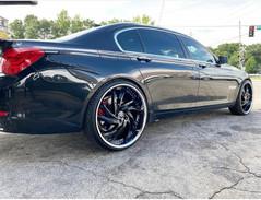 "BMW on 24"" Lexani wheels"