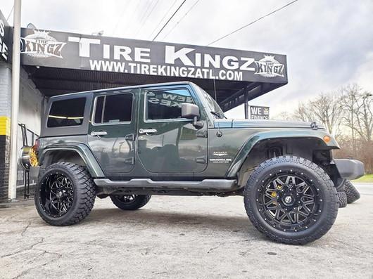 "Jeep Wrangler on 22"" XF Off-Road wheels"