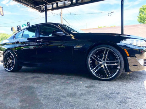 "BMW on 22"" XIX wheels"
