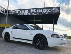 """Ford Mustang on 20"""" Ravetti wheels"""