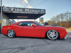 "Dodge Challenger on 22"" Rucci wheels"
