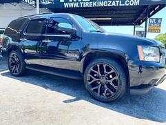 "Chevrolet Tahoe on 24"" Replica wheels"