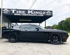 "Dodge Challenger on 24"" Replica wheels"