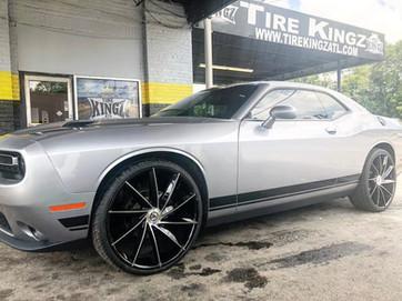 """Dodge Challenger on 26"""" Azara wheels"""
