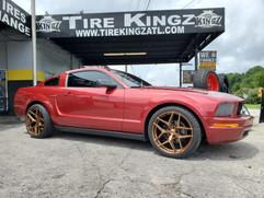 "Ford Mustang on 20"" STR Racing wheels"