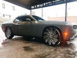 """Dodge Challenger on 24"""" Azara wheels"""