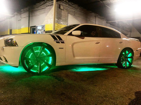 """Dodge Charger on 24"""" DUB wheels"""