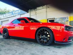 "Dodge Challenger on 22"" Replica wheels"
