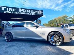 "BMW on 22"" Blaque diamond Wheels"