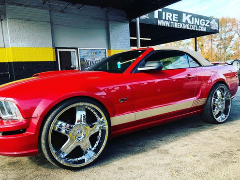 """Ford Mustang on 24"""" wheels"""