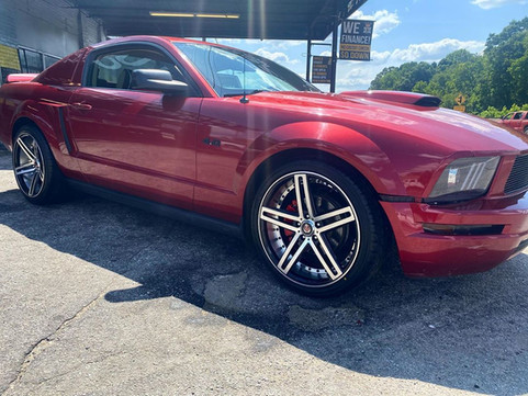 """Ford Mustang on 20"""" AXE wheels"""