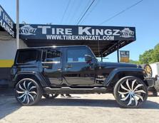 "Jeep Wrangler on 26"" Azara wheels"