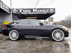 """Infiniti M37 on 26"""" Rucci wheels"""