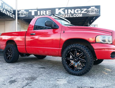 "Dodge Ram on 20"" BBY Off Road wheels"