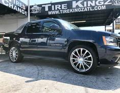 "Chevrolet Avalanche on 24"" Cavallo wheel"