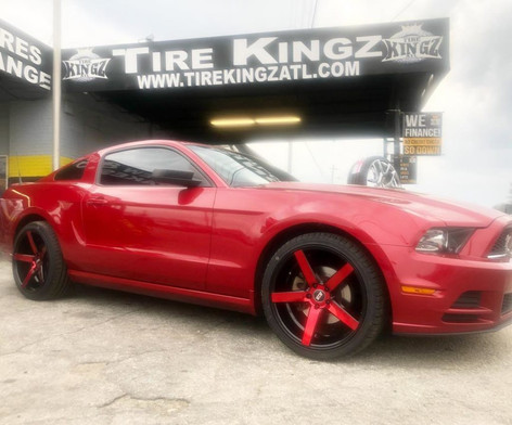 """Ford Mustang on 20"""" STR wheels"""