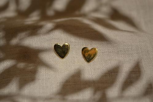 Herzohrringe Silber vergoldet