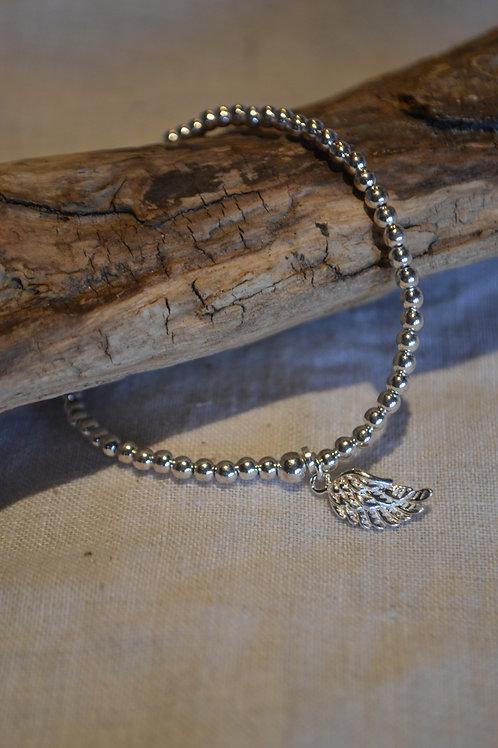Silberarmband mit Silberanhänger