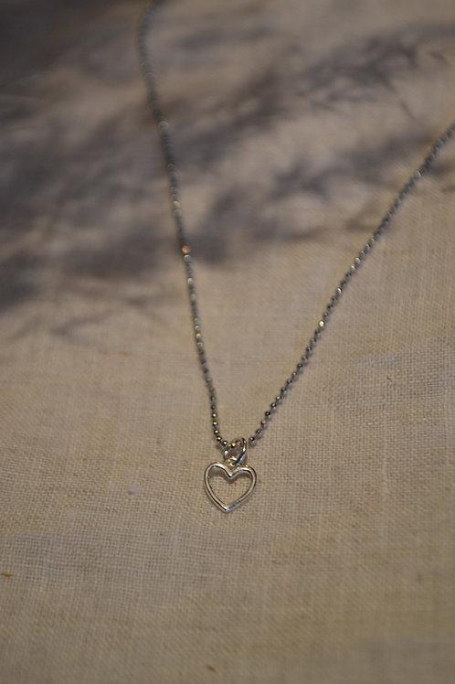 Kugelkette mit Herzanhänger