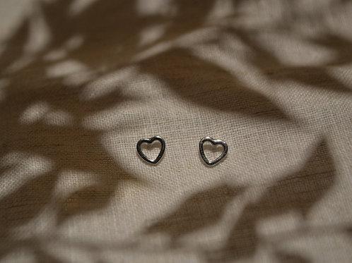 Herzohrringe Silber