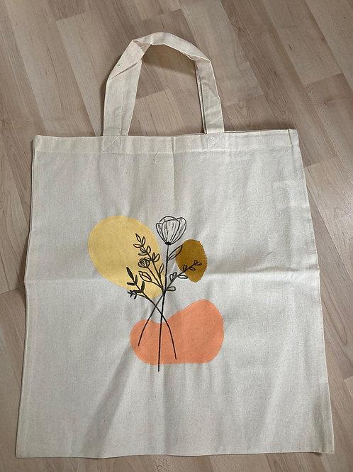 Stofftasche Gelb, Rosa, Beige
