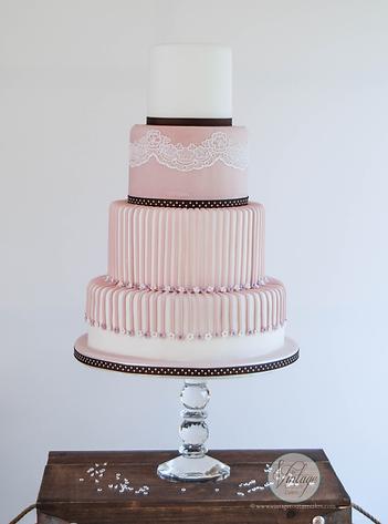Pink Candy Wedding Cake