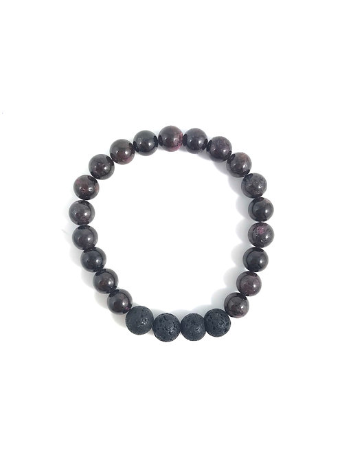 CONNECTION - Red Garnet - 8mm