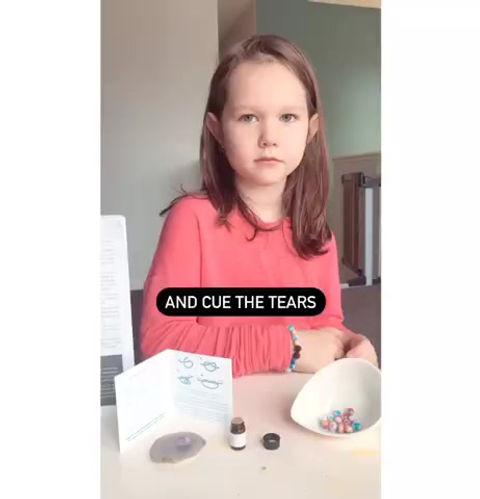 A child describing gratitude