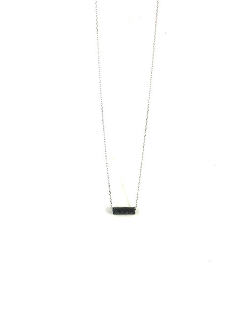Sterling Silver Lava Necklace - Bar
