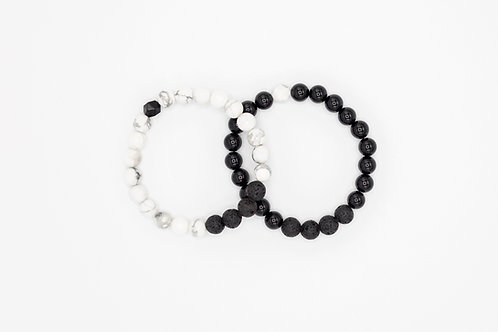 CONNECTION - Duo Bracelets 8mm