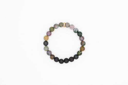 PEACE - Indian Agate 8mm