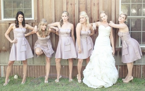 Recreating the Bridesmaids pose