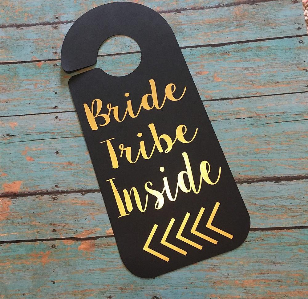 Bride Tribe Door Hanger