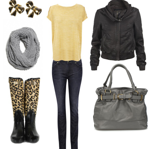 Rainy day party outfit