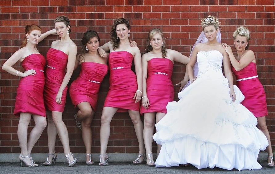 Bridesmaids movie photo pose recreation