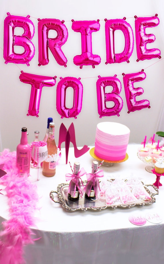 Mylar balloons, Bride To Be
