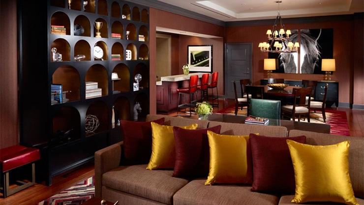 Hotel room at the Omni Nashville hotel