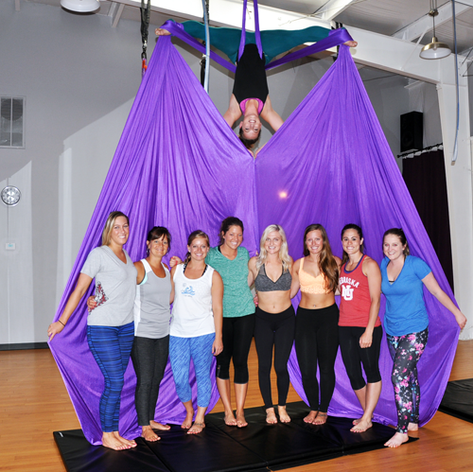 Aerial Silks at Miss Fit Academy