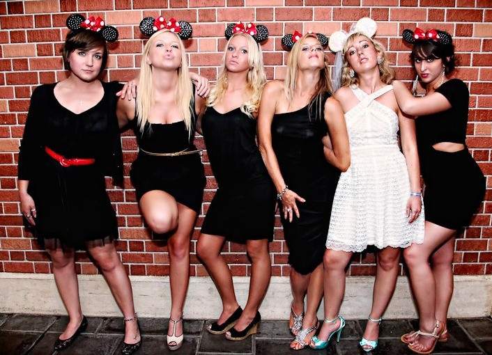 Disney Bridesmaids pose