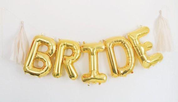 Mylar Balloons Bride