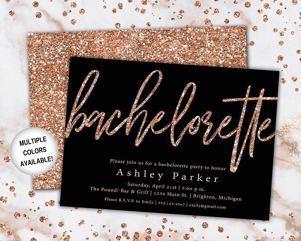 Classy bachelorette party invite