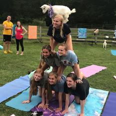 Goat Yoga Nashville pyramid